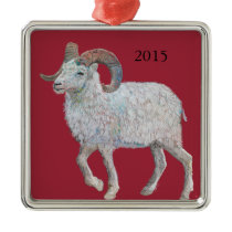 2015 is a Sheep Year Metal Ornament