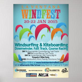 2015 La Ventana WindFest Event Poster