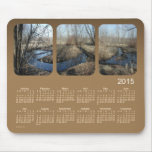2015 Landscape Calendar by Janz Brown Mouse Pad