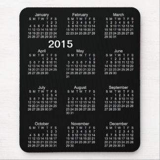 2015 Large Print Calendar Neon White Mousepad Mouse Pad