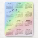 2015 Large Print Calendar Rainbow Mousepad Mouse Pad