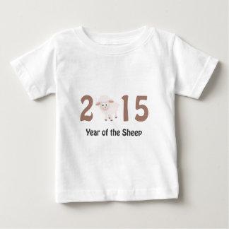 2015 lindo - Año del diseño de las ovejas Playera De Bebé