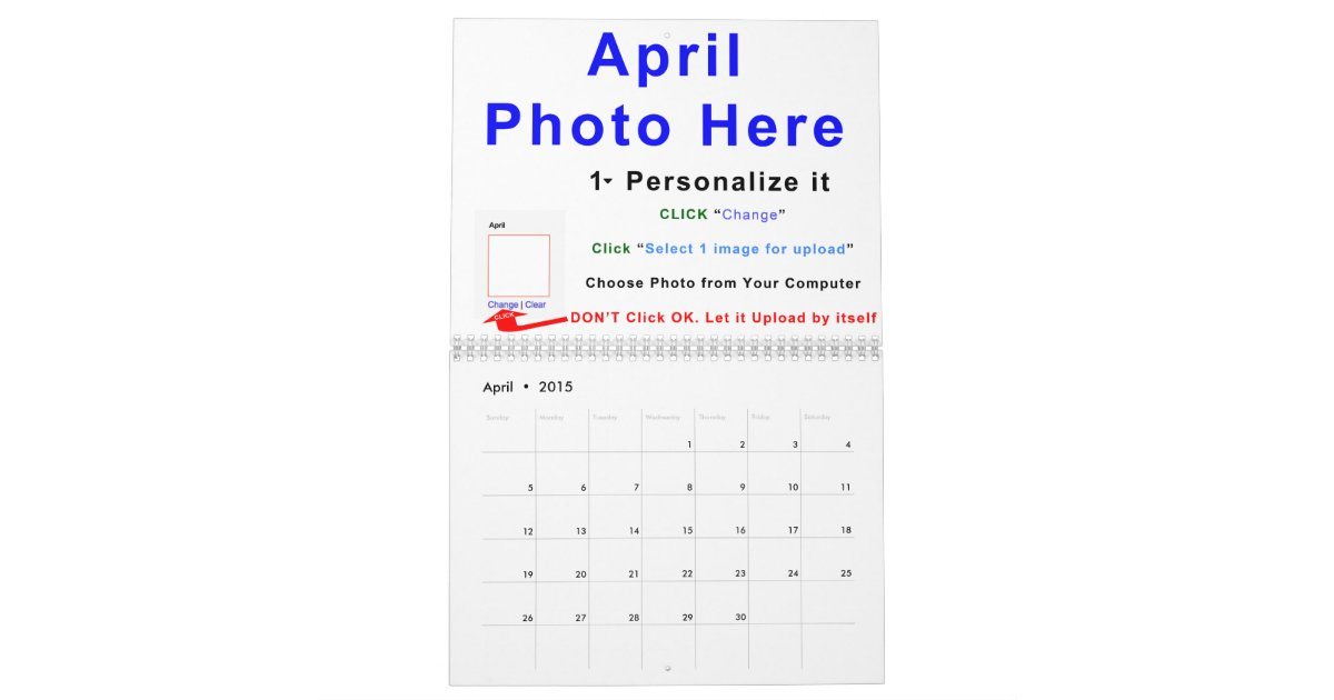 2015 make your own calendar online instructions zazzle for Create your own planner online