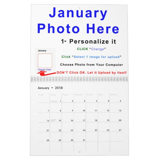 2015 Make Your Own Calendar Online, Instructions | Zazzle