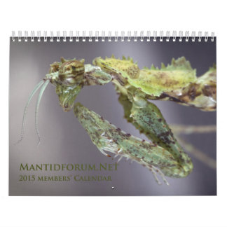 2015 Mantidforum.net Main Member Wall Calendar