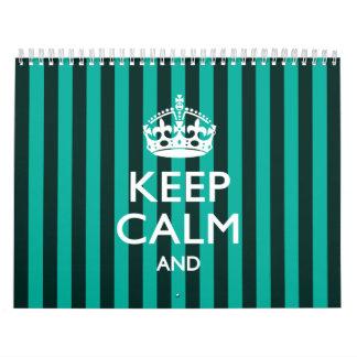 2015 mensuales personalizados GUARDAN CALMA Y corr Calendario De Pared