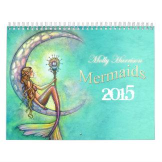 2015 Mermaid Calendar by Molly Harrison