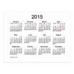 2015 Mini Calendar by Janz with Holidays Postcards