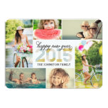 "2015 Mod New Year Photo Collage Holiday Card 5"" X 7"" Invitation Card"