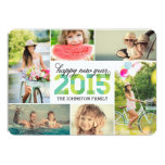 modern, announcement, personalized, photo collage,