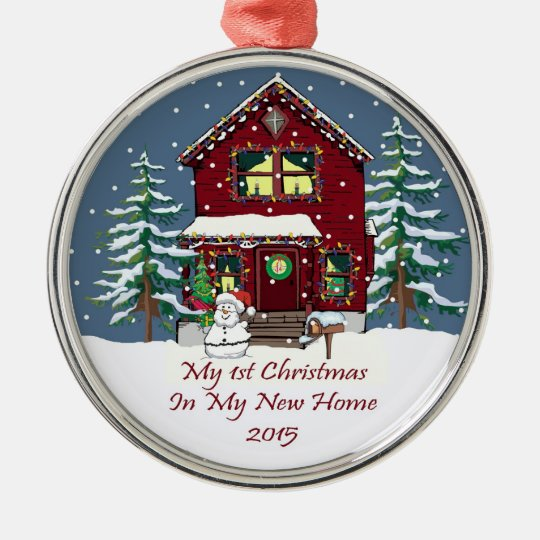 2015 my first christmas in my new home metal ornament