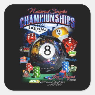 2015 National Singles Championship Square Sticker