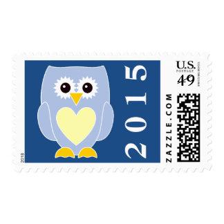 2015 New Baby Boy Owl Postage Stamp