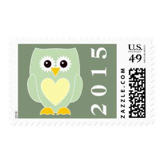 2015 New Baby Owl Postage Stamp
