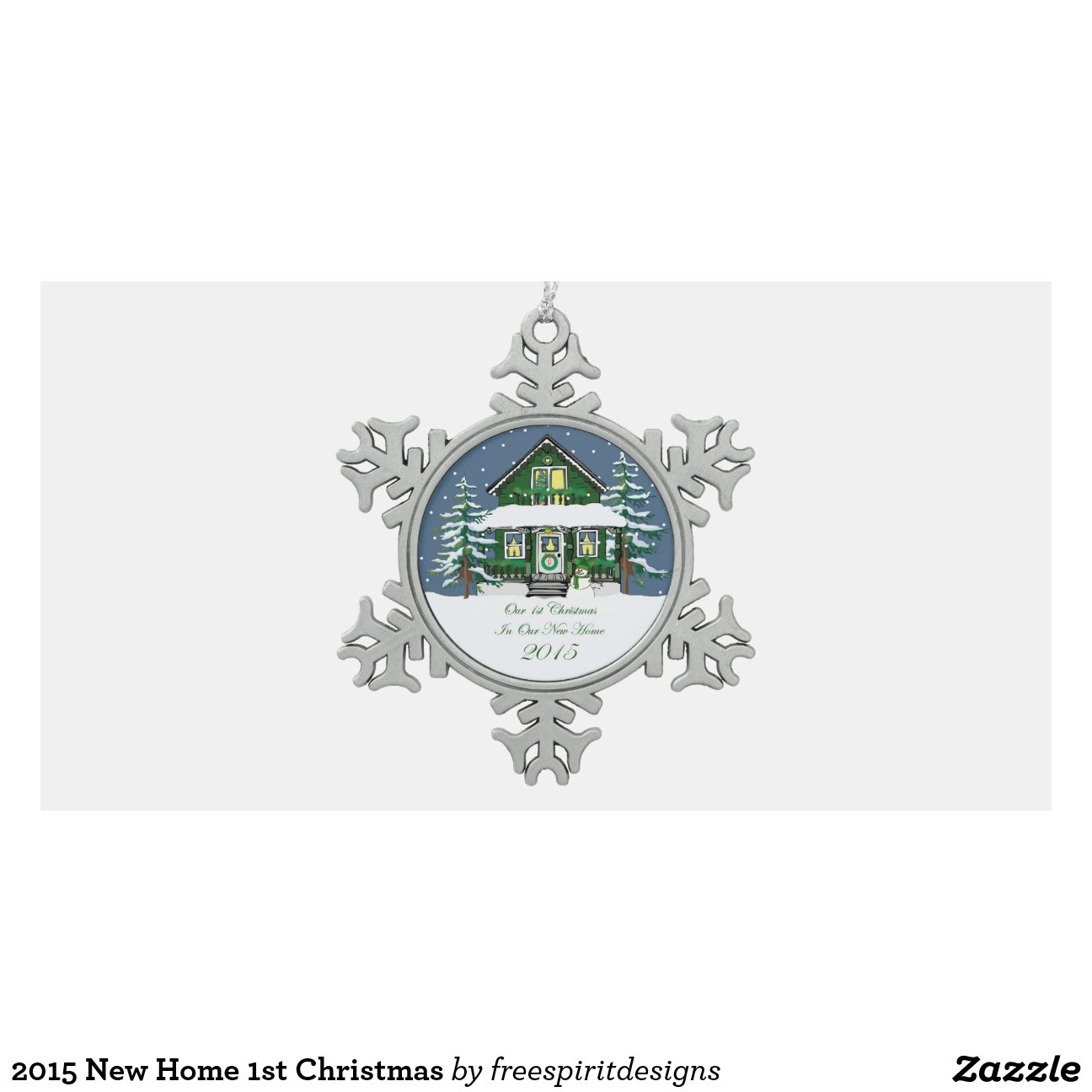 2015 New Home 1st Christmas Snowflake Pewter