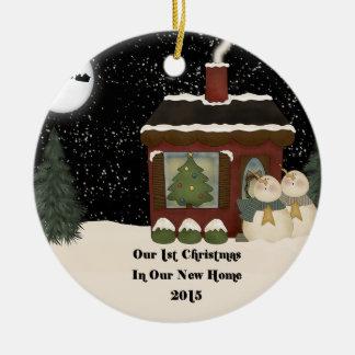 2015 New Home Christmas Ceramic Ornament