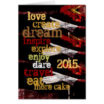 2015 new year motivational resolutions card