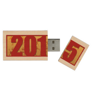2015 New Year of the Ram Sheep or Goat USB Wood Flash Drive
