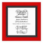 2015 o cuaesquiera blancos negros rojos V07C de la Invitación 13,3 Cm X 13,3cm