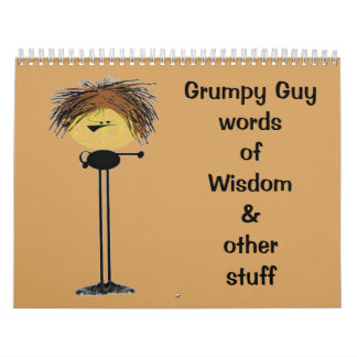2015 o elige la sabiduría gruñona del individuo de calendarios de pared