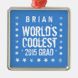 2015 or Any Year Class Of New Grad Grunge Stars A4 Metal Ornament