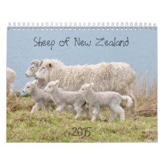 2015 ovejas de calendario de Nueva Zelanda