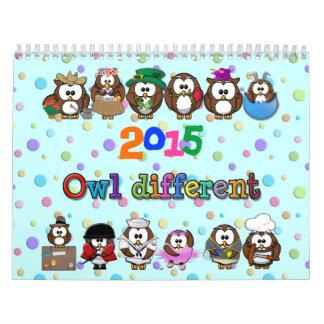 2015 owl different; owl identical calendar