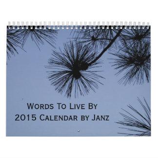 2015 palabras a vivir por el calendario de pared