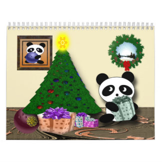 2015 pandas que ruedan calendarios de pared