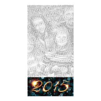 2015 party lights photo card template
