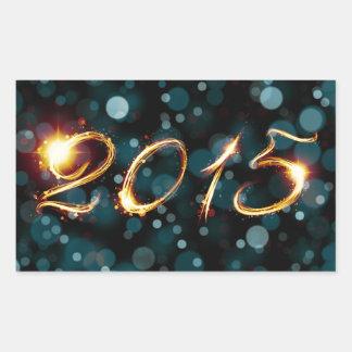 2015 party lights rectangular sticker