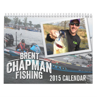 2015 pesca de la lubina del buhonero de Brent - Calendarios De Pared