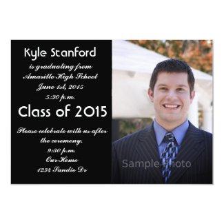 "2015 Photo Graduation Invitation 5"" X 7"" Invitation Card"