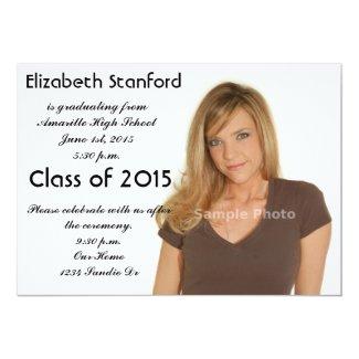 2015 Photo Graduation Invitation
