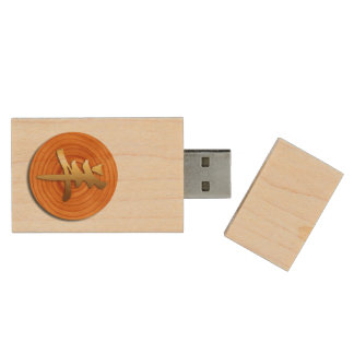 2015 Ram Sheep or Goat Year - Chinese New Year Wood Flash Drive
