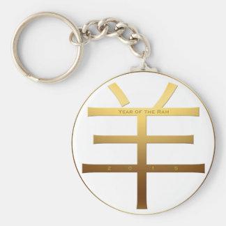 2015 Ram Year - Chinese New Year  - Basic Round Button Keychain