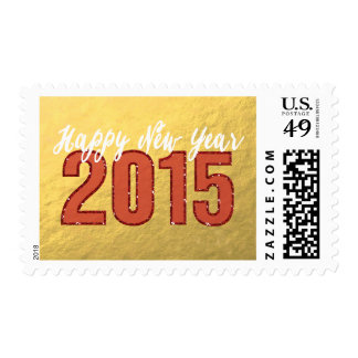 2015 Red Glitter | Happy New Year Holiday Stamps