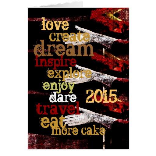 2015 resoluciones de motivación del Año Nuevo Felicitación
