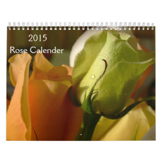 2015 Rose Calender Calendar