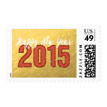 2015 sellos rojos del día de fiesta de la Feliz