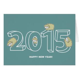 2015 Sheep New Year Greeting Card