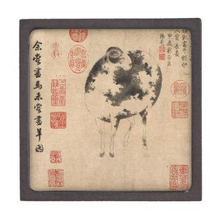 2015 Sheep Ram Goat Year - Chinese Painting - Box