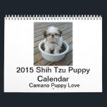 "2015 Shih Tzu Puppy Calendar<br><div class=""desc"">Includes full color Shih Tzu puppy photos on each page.</div>"