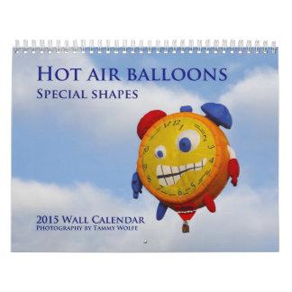 2015 Special Shapes Hot Air Balloon Wall Calendar