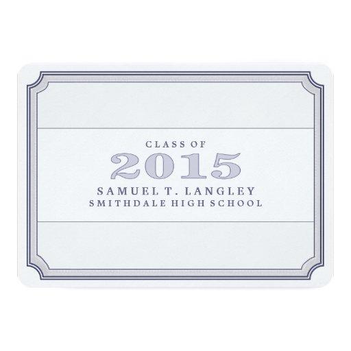 2015 Steel Blue Graduation Party Ticket Invite (back side)
