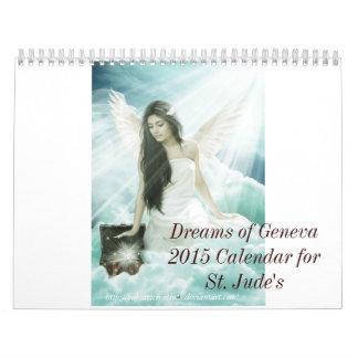 2015 sueños de Ginebra calendario de 15 meses