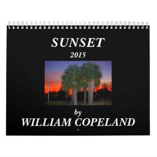 2015 Sunset Calendar