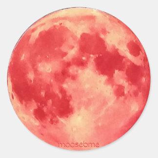 2015 Super Moon Classic Round Sticker