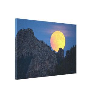 2015 Super Moon~Pre-eclipse~Just outside Denver CO Canvas Print