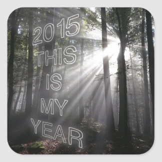 2015 This is My Year Square Sticker